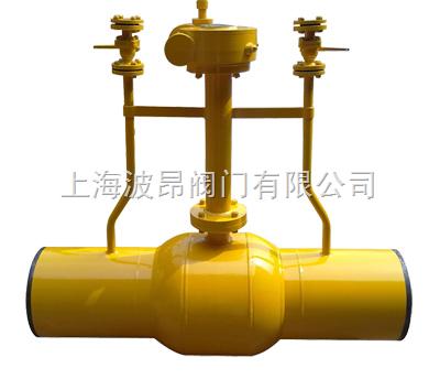 燃气放散直埋球阀(上海波昂专业全焊接球阀)图片